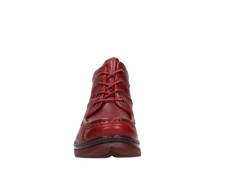 wolky lace up boots 04850 zoom 24505 dark red leather_7