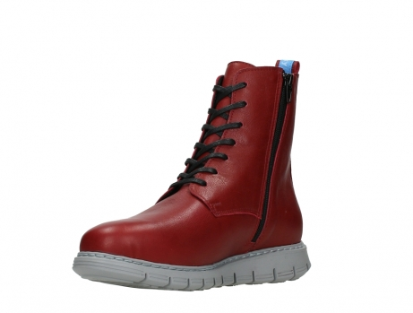 wolky lace up boots 05027 starlight 30500 red leather_10