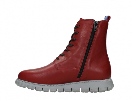 wolky lace up boots 05027 starlight 30500 red leather_13