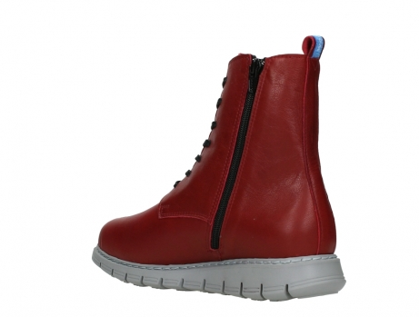 wolky lace up boots 05027 starlight 30500 red leather_16