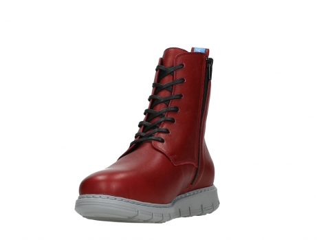 wolky lace up boots 05027 starlight 30500 red leather_9