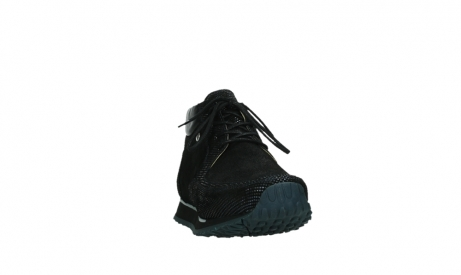 wolky lace up boots 05802 e boot 47800 blue metallic stretch suede_6