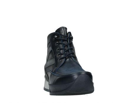 wolky lace up boots 05881 victoria 24800 blue stretch leather_6