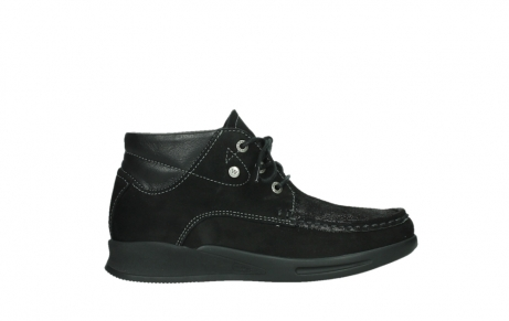 wolky lace up boots 05903 three 10000 black stretch nubuckleather_1