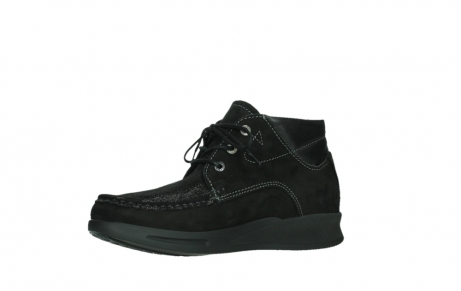 wolky lace up boots 05903 three 10000 black stretch nubuckleather_11