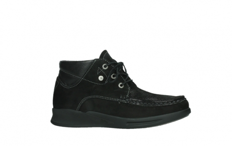 wolky lace up boots 05903 three 10000 black stretch nubuckleather_2