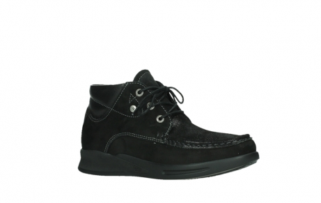 wolky lace up boots 05903 three 10000 black stretch nubuckleather_3