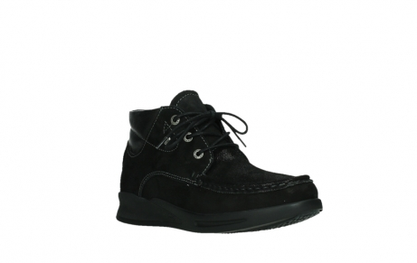 wolky lace up boots 05903 three 10000 black stretch nubuckleather_4
