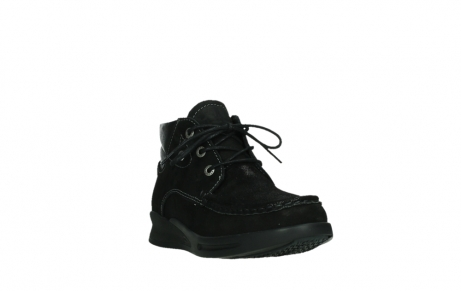 wolky lace up boots 05903 three 10000 black stretch nubuckleather_5