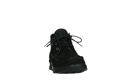 wolky lace up boots 05903 three 10000 black stretch nubuckleather_6