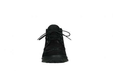 wolky lace up boots 05903 three 10000 black stretch nubuckleather_7