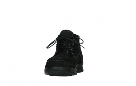 wolky lace up boots 05903 three 10000 black stretch nubuckleather_8