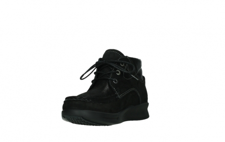 wolky lace up boots 05903 three 10000 black stretch nubuckleather_9