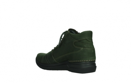 wolky lace up boots 06606 why 11735 forest green nubuck_16