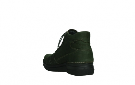 wolky lace up boots 06606 why 11735 forest green nubuck_17