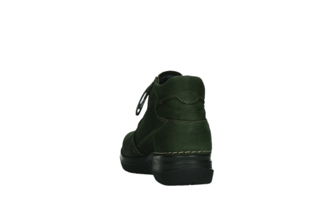wolky lace up boots 06606 why 11735 forest green nubuck_18