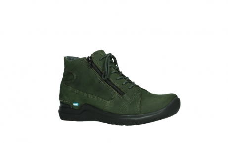 wolky lace up boots 06606 why 11735 forest green nubuck_3