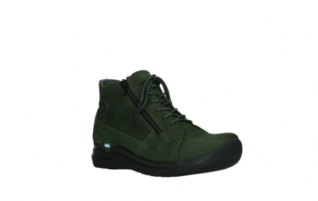 wolky lace up boots 06606 why 11735 forest green nubuck_4