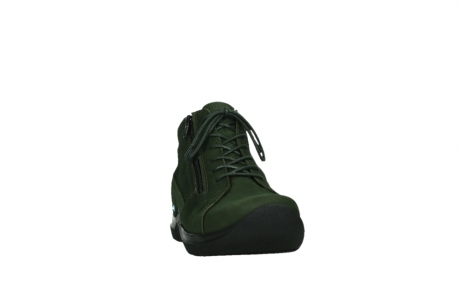 wolky lace up boots 06606 why 11735 forest green nubuck_6