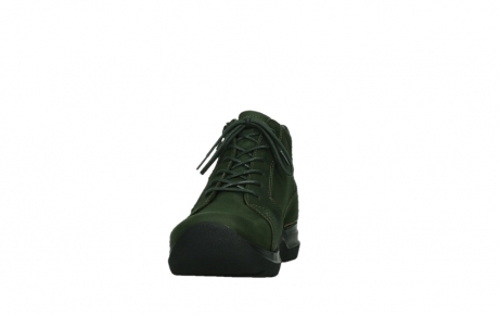 wolky lace up boots 06606 why 11735 forest green nubuck_8