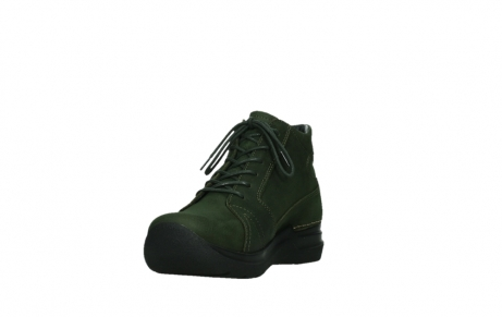 wolky lace up boots 06606 why 11735 forest green nubuck_9