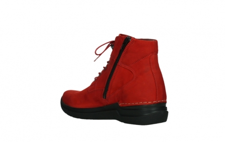 wolky lace up boots 06612 whynot 16505 dark red nubuck_16