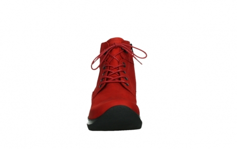 wolky lace up boots 06612 whynot 16505 dark red nubuck_7
