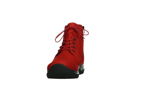 wolky lace up boots 06612 whynot 16505 dark red nubuck_8