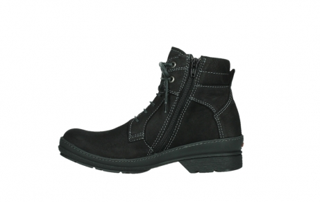 wolky lace up boots 07645 latky 13000 black nubuckleather_13