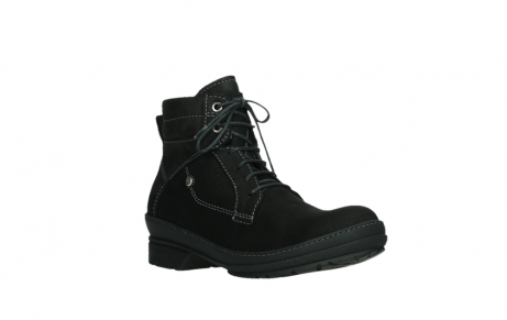 wolky lace up boots 07645 latky 13000 black nubuckleather_4