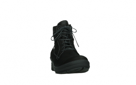 wolky lace up boots 07645 latky 13000 black nubuckleather_6