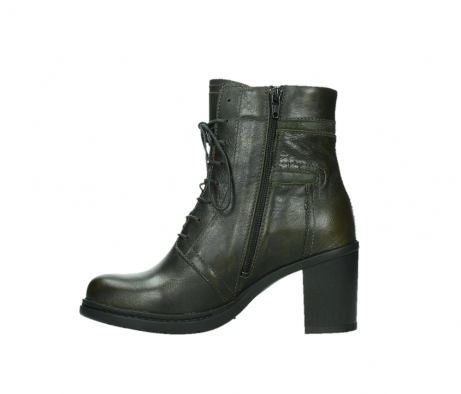 wolky ankle boots 08064 shalkar 27775 military green effect leather_13