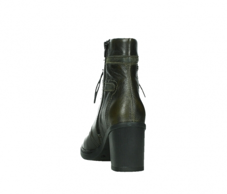 wolky ankle boots 08064 shalkar 27775 military green effect leather_18