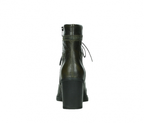 wolky ankle boots 08064 shalkar 27775 military green effect leather_19