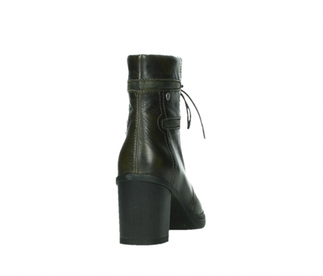 wolky ankle boots 08064 shalkar 27775 military green effect leather_20
