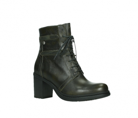 wolky ankle boots 08064 shalkar 27775 military green effect leather_3