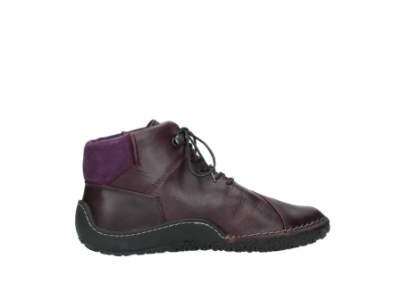 wolky lace up boots 08361 mokola 50600 dark purple black oiled leather_12