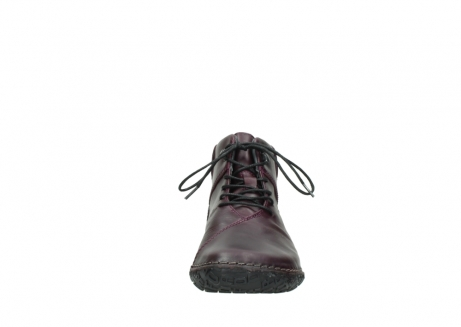 wolky lace up boots 08361 mokola 50600 dark purple black oiled leather_19