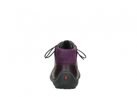 wolky lace up boots 08361 mokola 50600 dark purple black oiled leather_7