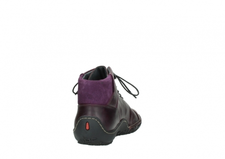 wolky lace up boots 08361 mokola 50600 dark purple black oiled leather_8
