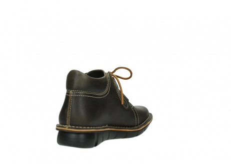 wolky lace up boots 08395 tara 50733 forest green leather_9