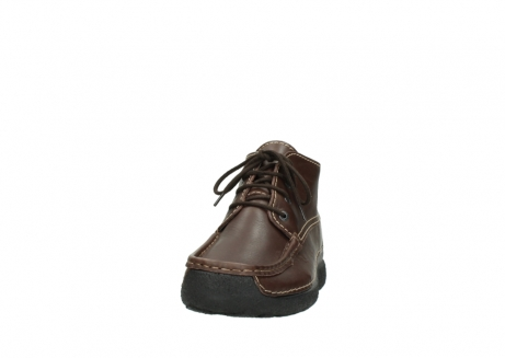wolky lace up shoes 09203 roll moc basic 50300 brown leather_20