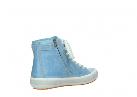 wolky lace up shoes 01225 biker 30840 jeans blue leather_10
