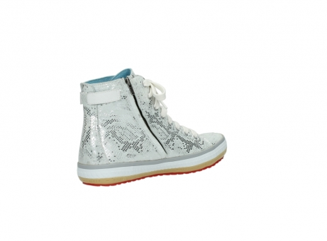 wolky lace up shoes 01225 biker 90130 silver metallic leather_10