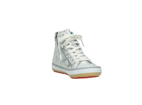 wolky lace up shoes 01225 biker 90130 silver metallic leather_17