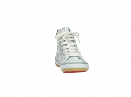 wolky lace up shoes 01225 biker 90130 silver metallic leather_18
