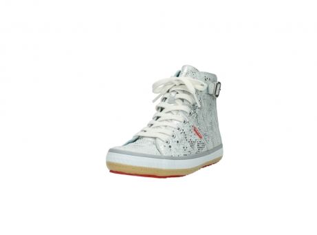 wolky lace up shoes 01225 biker 90130 silver metallic leather_21