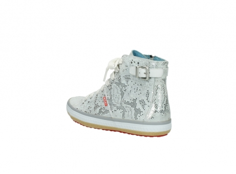 wolky lace up shoes 01225 biker 90130 silver metallic leather_4