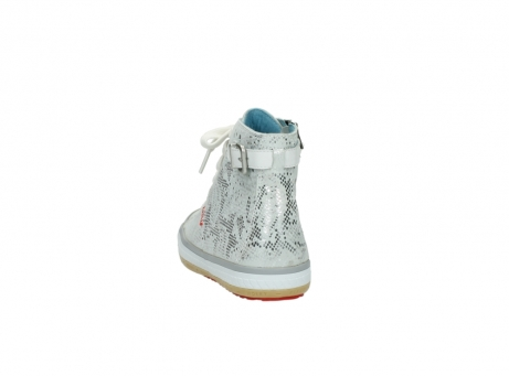 wolky lace up shoes 01225 biker 90130 silver metallic leather_6