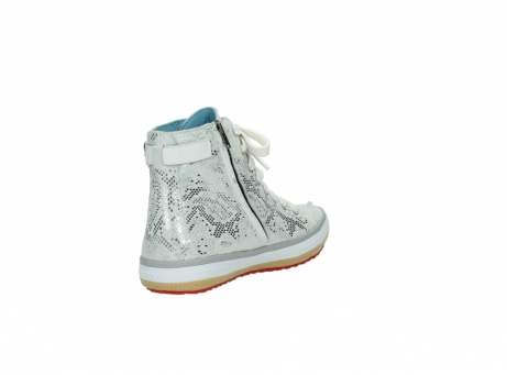 wolky lace up shoes 01225 biker 90130 silver metallic leather_9